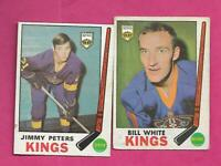 1969-70 OPC KINGS JIMMY PETERS RC + BILL WHITE   CARD (INV# C5930)