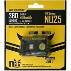 Nitecore NU25 LED Kopflampe, Stirnlampe, Headlamp Triple Output USB 360 Lumen