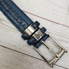 Stacy Adams Mens 32 Blue Genuine Snakeskin Leather Embossed Crocodile Belt