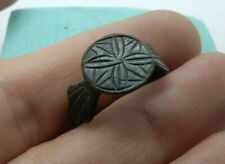 Perfect Ancient Bronze jewelry temporal  Post-Medieval Ring US-10 #457