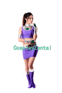 DC Starfire Female Cosplay Costume Zentai for Women Adult Halloween Party