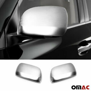 Fits Toyota Land Cruiser 2008-2020 Brushed Side Mirror Cover Cap Set W/O Signal