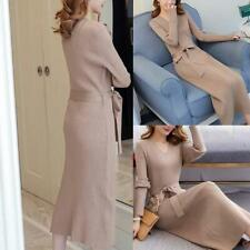 Korean Fashion High Waist Sweater Dress Women Knitted Sweaters Dresses Elegant