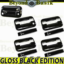 2004-14 Ford F150 Crew Cab GLOSS BLACK Door Handle Covers NPK NKP+Tailgate w/Cam