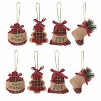 8X DIY Christmas Tree Sock Bag Ornament Pendants Xmas Party Home Hanging Decor