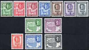 Somaliland Protectorate 1942 KGVI set of mint stamps value to Rs5 Lightly Hinged