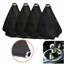 Universal Car PVC Leather Gear Manual Gaiter Shifter Shift Boot Cover & Stitch