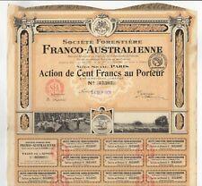 Societe Forestiere Franco-Australienne bond