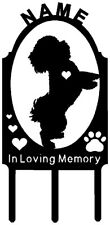 BICHON FRISE Dog Pet Memorial Grave Marker PERSONALIZED Yard Stake Metal Art