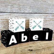 Personalised Wooden Name Blocks PRICE PER BLOCK/LETTER Custom Made Arrow