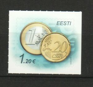 ESTONIA 2014 COIN EURO STAMP €1.20 COMP. SET OF 1 STAMP IN MINT MNH UNUSED