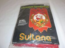 Vtg SEALED Sultana Jeweled Christmas Jeweled Door Chime Kit Santas Cameo #32137