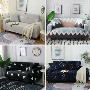 Geometric Elastic Sofa Cover Modern Sectional Couch Cover Chair Protector Decor