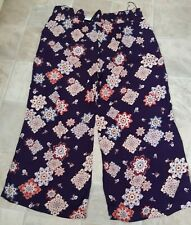 BNWT, Anthology, Ladies Deep Purple, Wide Leg, Floral Trousers, Size 24