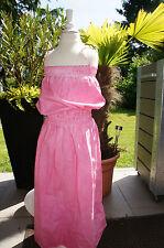 Manila Grace langes Batic Kleid ausgefallen Gr. M / 128 pink hat nicht jeder!