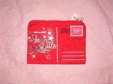 "NWT VICTORIAS SECRET ""SEXY LITTLE XMAS"" CHRISTMAS POSTCARD MAKEUP CASE BAG"