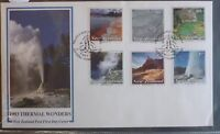 1993 NEW ZEALAND THERMAL WONDERS SET OF 6 STAMPS FDC FIRST DAY COVER