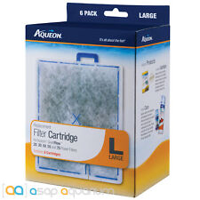 Aqueon QuietFlow Replacement Filter Cartridges Large 6pk Fast Free USA Shipping