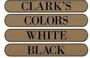 ClARKS SPOOL CABINET LABELS 4 PIECE SET / Black on Gold  10 1/4 X 1 5/8
