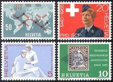 Switzerland 1965 ITU-UIT/Nurse/Women's Army/Stamp-on-Stamp/Health 4v set n27182