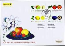 FRG 2010: Fruit! Post-Wohlfahrt-FDC der Nr. 2769-2772 mit Berlin Stamp! 1801