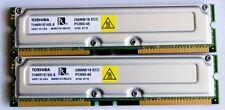 512 MB TOSHIBA pc800-45 RIMM RAMBUS RDRAM ecc, Testato