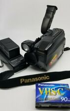Vintage Panasonic Palmcorder Iq Color Viewfinder Vhcs Pv10403 X10 Tape,Charger