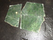 3  LARGE OLD SIBERIAN GREEN NEPHRITE JADE SLABS   2  3/4  POUNDS  RUSSIA