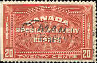 Canada Used F-VF Scott #E5 20c 1932 Special Delivery Stamp