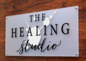 MODERN BUSINESS PLAQUE LARGE A4 HOUSE SIGN GLASS ACRYLIC OFFICE/COMMERCIAL