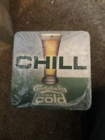 10 X CARLSBERG COLD LAGER DRINKS MATS PUB BAR BEERMATS MANCAVE Bar Beer Coasters