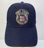 PORT POLICE Port Of Los Angeles LA Founded 1907 Blue SnapBack Hat Cap