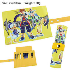 Kingdom Hearts Japan Anime Reel Scroll Pencil Stationary Storage Wallet Bag Gift