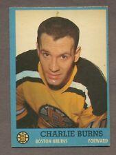 1962-63 Topps Hockey No. 15 Bruins Charlie Burns Ex
