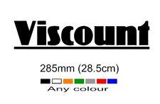 Viscount Caravan Sticker 285mm any colour