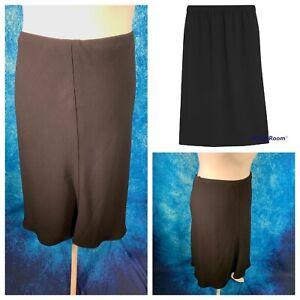 Ladies Black Skirt Size 24 M&S MARKS & SPENCERS A Line Smart Work Business 🌹