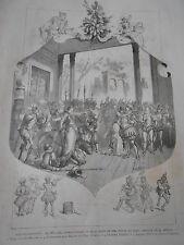 Gravure 1881 - La Mascotte opéra comique de Chivot et Duru