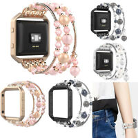 Fashionable Beaded Elastic Bracelet Band Strap with Frame For Fitbit Blaze Watch