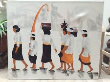 HAND PAINTED CANVAS OF BALINESE CEREMONY