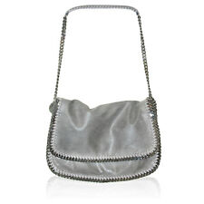 Stella McCartney Light Grey Falabella Shaggy Deer Messenger Bag