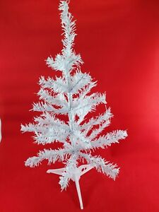 """Mini-Christmas Trees Table Top, Desk,  Stands 18""""  Christmas Tree White New!!"""