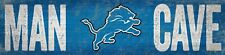 "Detroit Lions MAN CAVE Football Wood Sign - NEW 16"" x 4""  Decoration Gift"