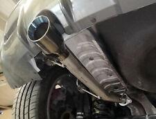 "Rear silencer delete pipe for Nissan Juke Nismo RS 2wd - 4"" slash black chrome"