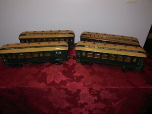 Marklin,American Outline, 4 Car Passenger Set, 1 Gauge,Hand Painted,Excellent +