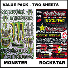 2 X Rockstar Decal Stickers Sheet For Car Motorcycles Bicycle Helmet #002