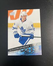 Upper Deck NHL Alexander Barabanov Maple Leafs Young Guns Card #485