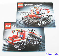 Lego Building Instruction Technic Technology 8263 Snowcat Snowplow New Top No