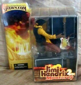 "JIMI HENDRIX 2 AT MONTEREY 2004 MCFARLANE TOYS 7"" RARE NEW SEALED !!!!!"