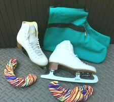 New listing Jackson Mystique Womens Figure Ice Skates Size 8.5 Furry Guards A & R Skate Bag