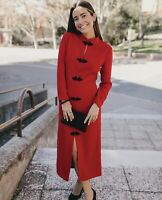 ZARA AW2020 RED / BLACK TOGGLE DRESS SIZE XL BNWT BLOGGERS FAVOURITE SOLD OUT